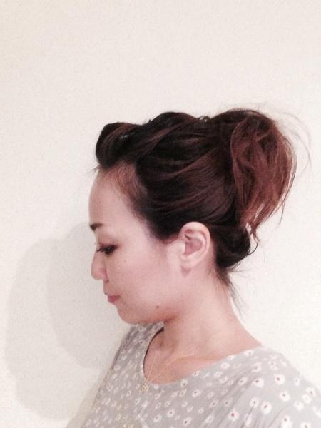 フリーアナウンサー シンガー 廣木弓子 オフィシャルサイト K-MIX へアアレンジ2